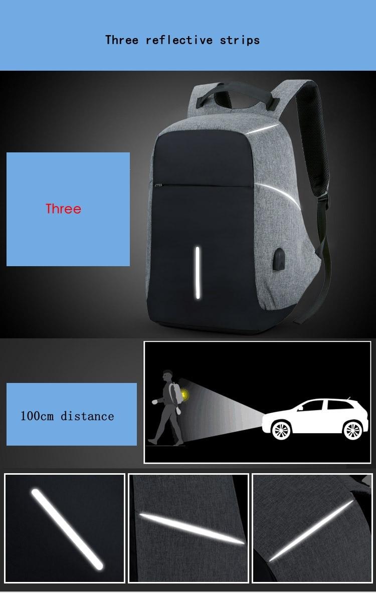 Solar Anti Theft Waterproof Backpack