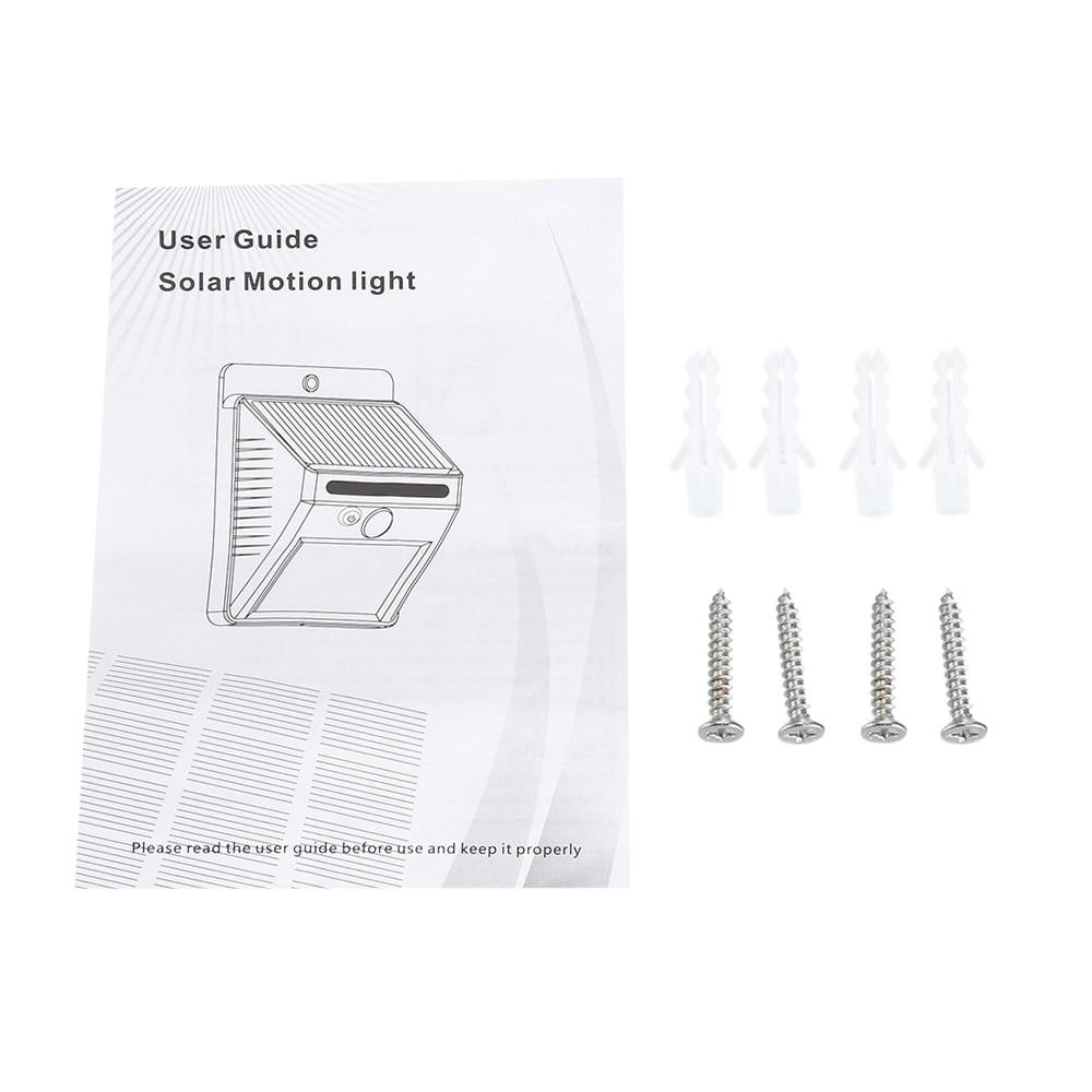 LightMe Solar Power PIR Motion Sensor Wall Light 20 LED Outdoor Waterproof - Gowin Solar