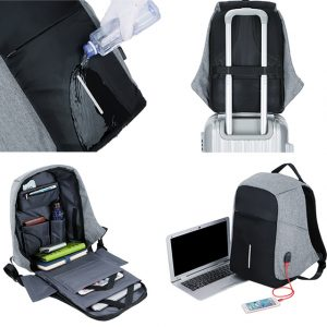 Men Anti theft Backpack USB Charging 15.6