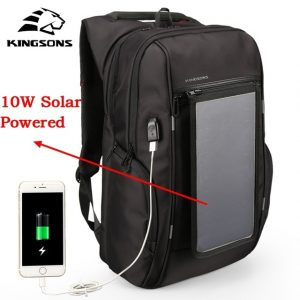 Kingson Solar Powered Backpack-Usb Charging Anti-Theft 15.6""